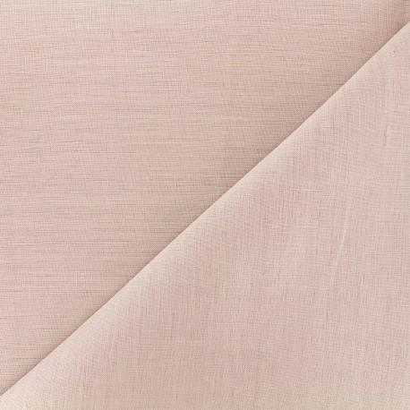 tissu lin grande largeur rose x 10cm