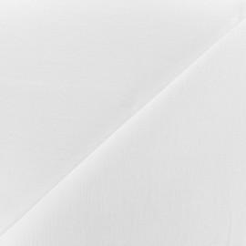 tissu coton lin grande largeur berlin blanc x 10cm