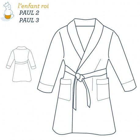 Patron l'Enfant Roi Robe de chambre Paul