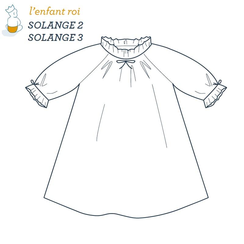 Solange Night dress L'Enfant Roi sewing pattern