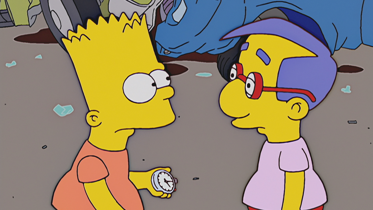 Image result for TREEHOUSE OF HORROR XIV Stop the World, I Want to Goof Off