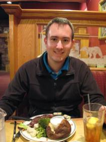Jens und das Bison Rib Eye Steak