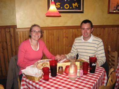 Katja und Jens bei Pasta Jay's