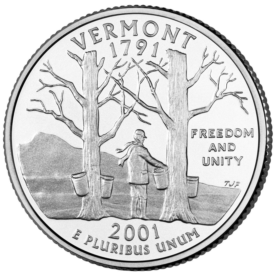 Dollar Washington Quarter Vermont