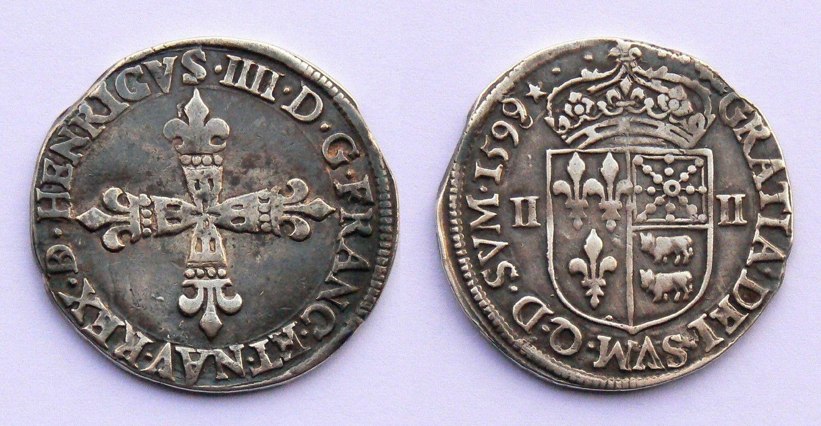 Estimation Quart dcu du Barn  Henri IV  1599  Numista