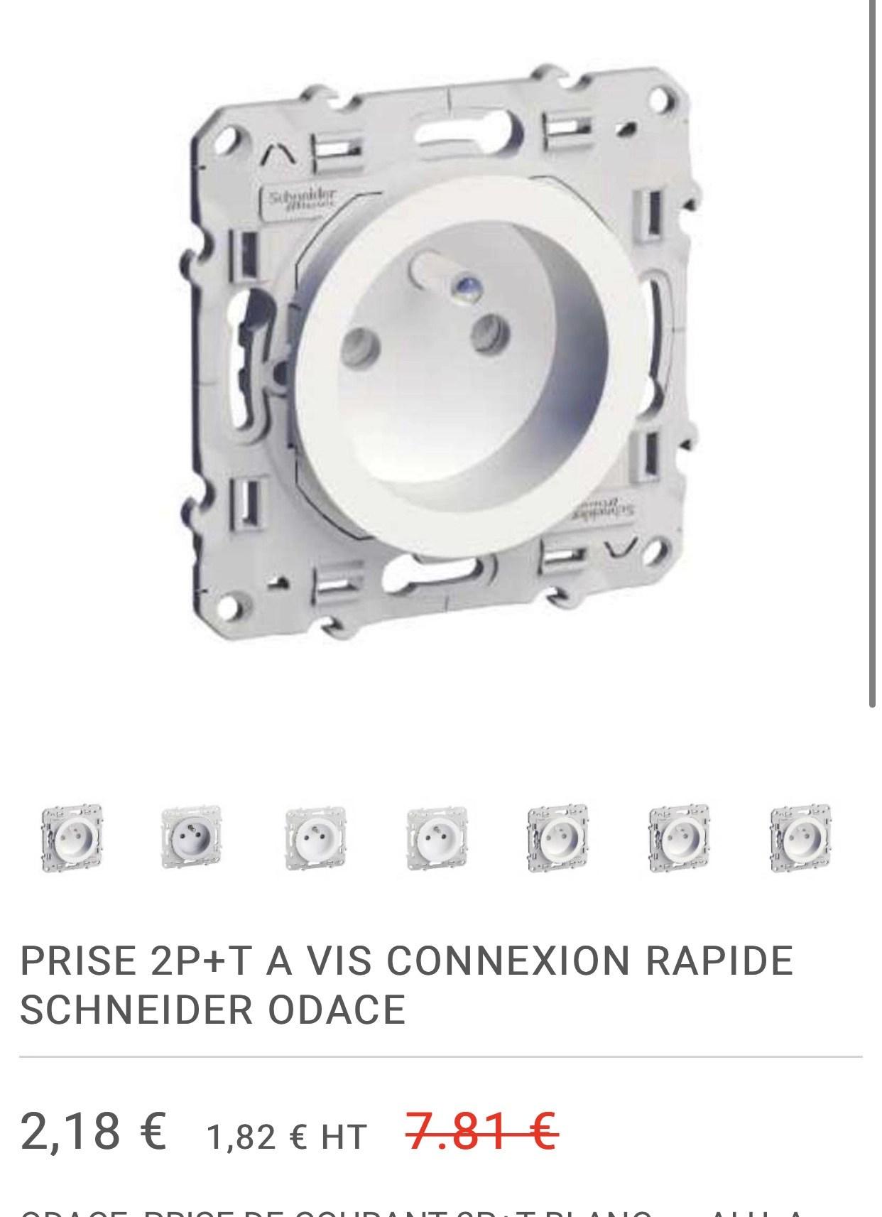 Selection De Produits Schneider En Promotion Ex Prise De Courant 2 P T Odace Elec44 Fr Dealabs Com
