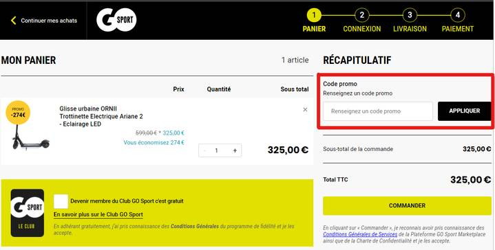 code promo go sport reductions avril