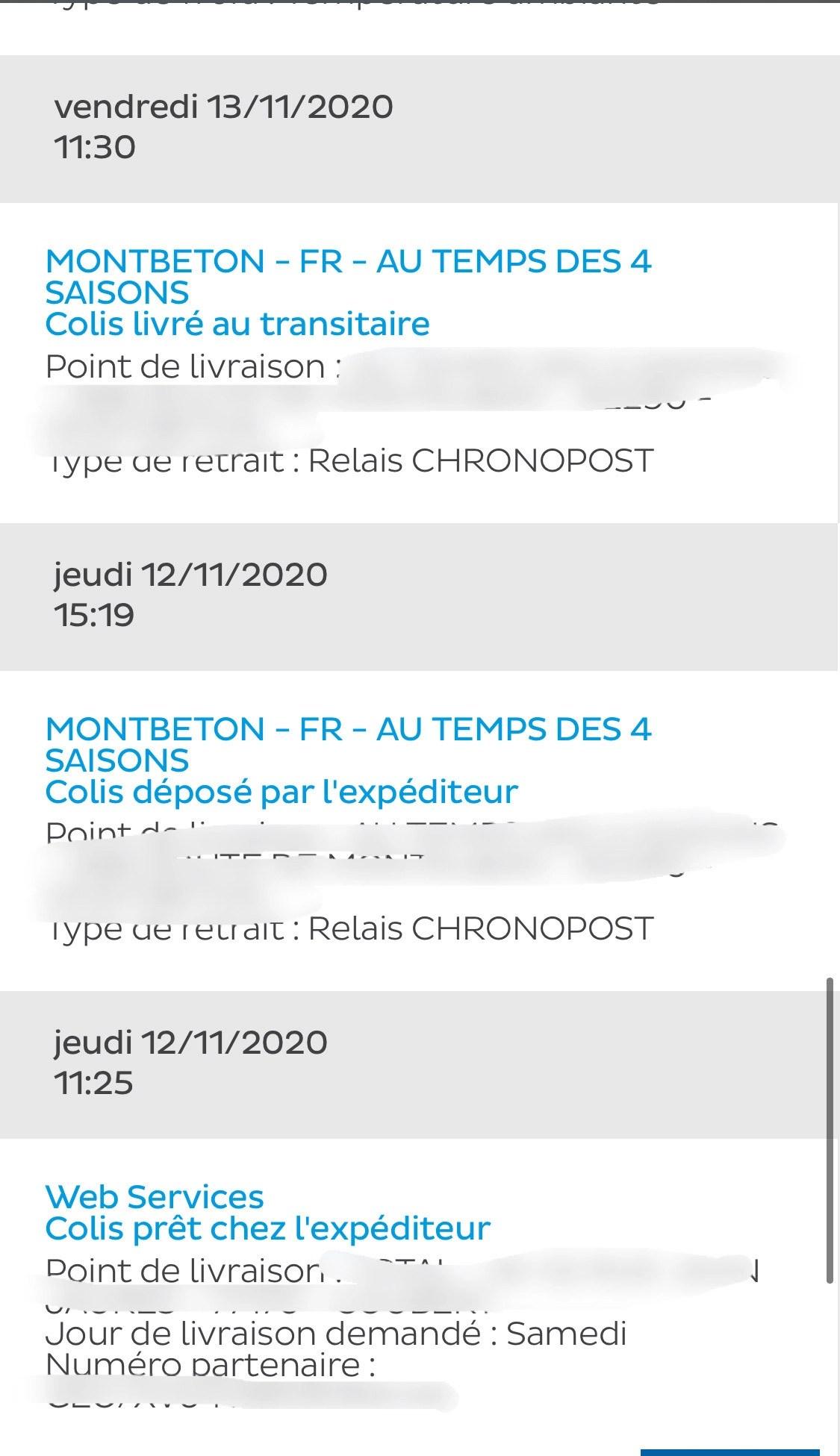 Jours De Livraison Mondial Relay Samedi : jours, livraison, mondial, relay, samedi, Problème, Livraison, Chronopost/Vinted, Dealabs.com
