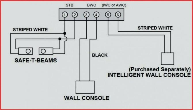 garage door safety sensor wiring diagram  block diagram