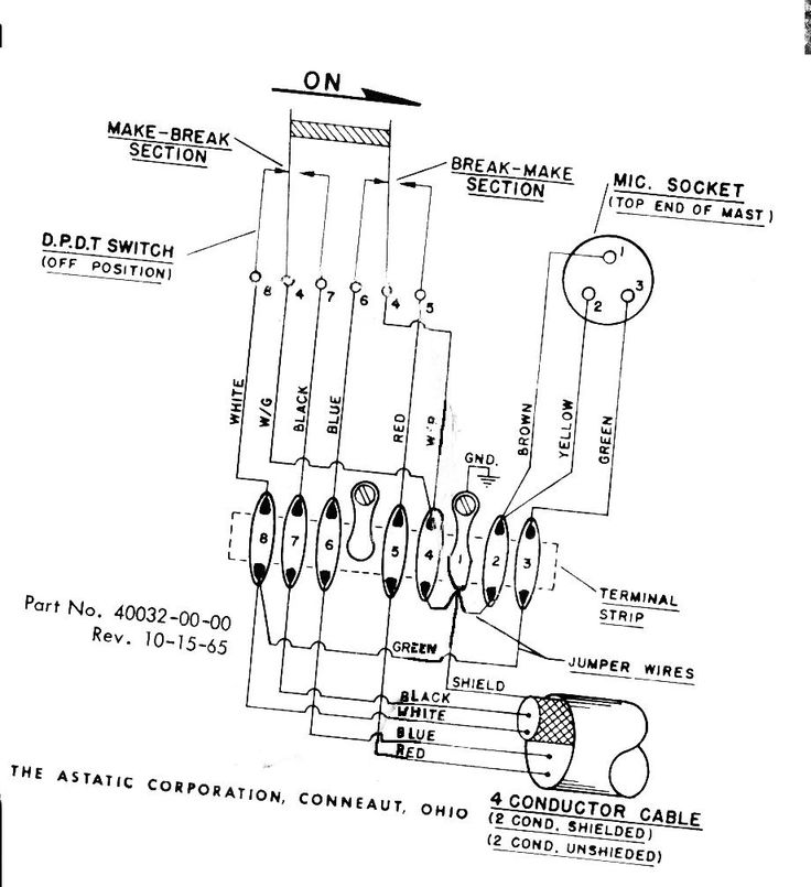 [MY_5058] Astatic D 104 Microphone Wiring Moreover 4 Pin