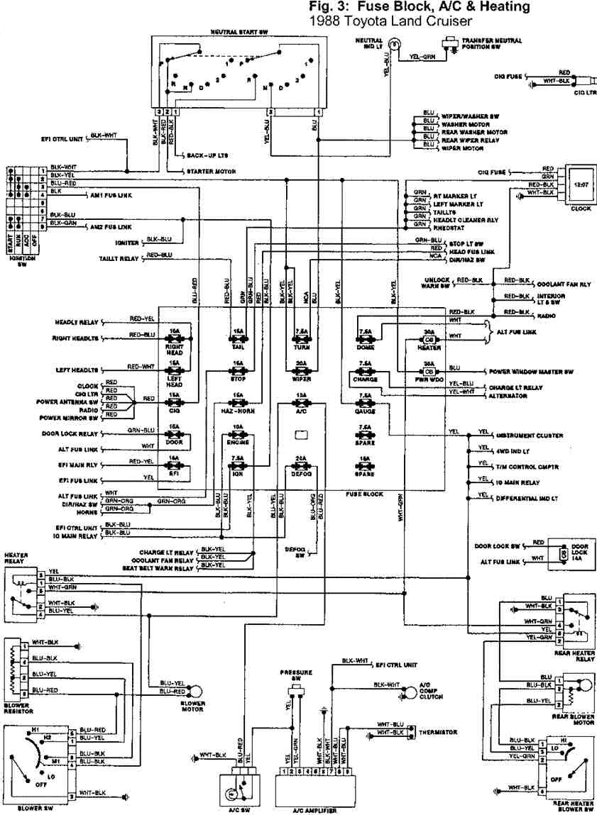 [VL_4710] Hzj75 Headlight Wiring Diagram Schematic Wiring