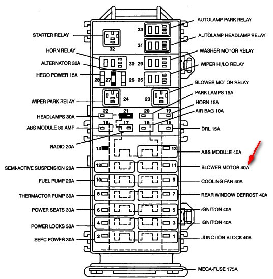 1997 Mercury Sable Wiring Diagram / 1990 Mercury Sable