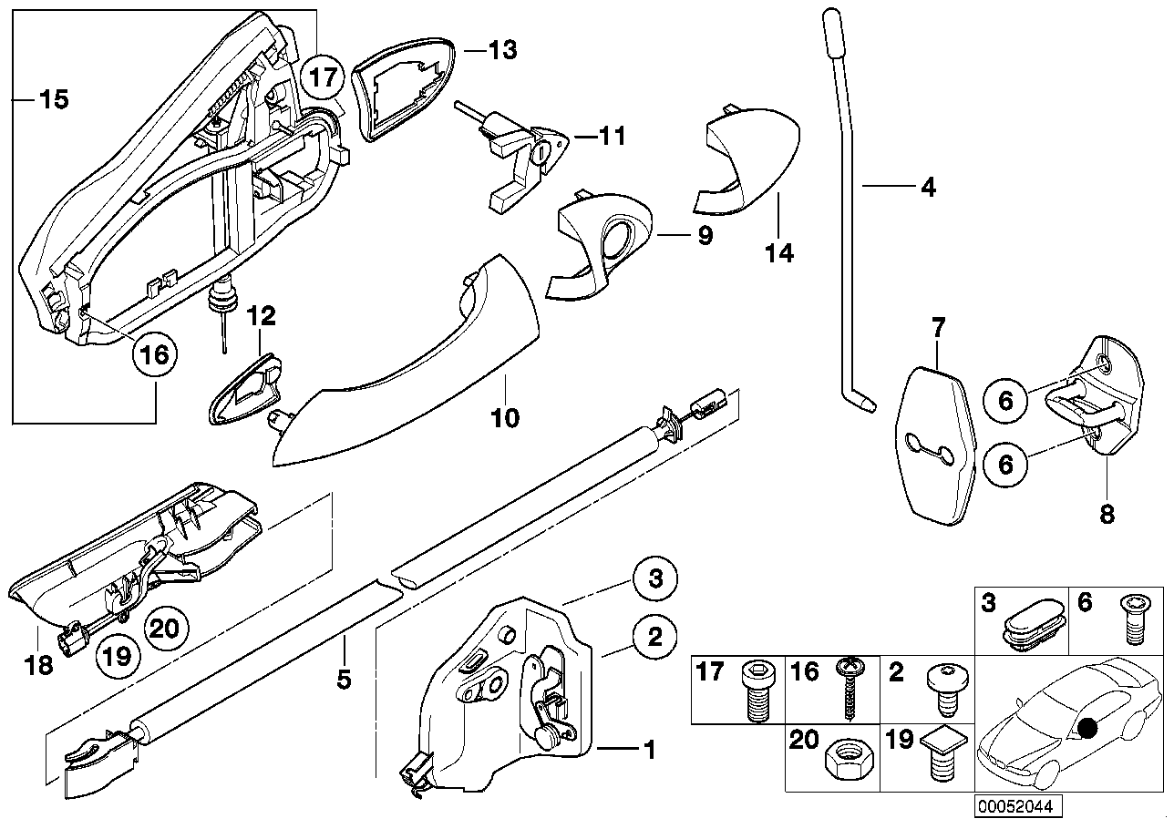 [XS_5738] Rear Tailgate Diagram Furthermore Door Lock