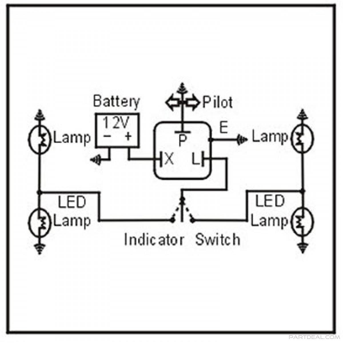 Blinker Relay 3 Pin Flasher Relay Wiring Diagram Manual