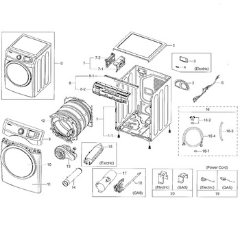 [TC_4612] Cabinet Parts Diagram And Parts List For Samsung