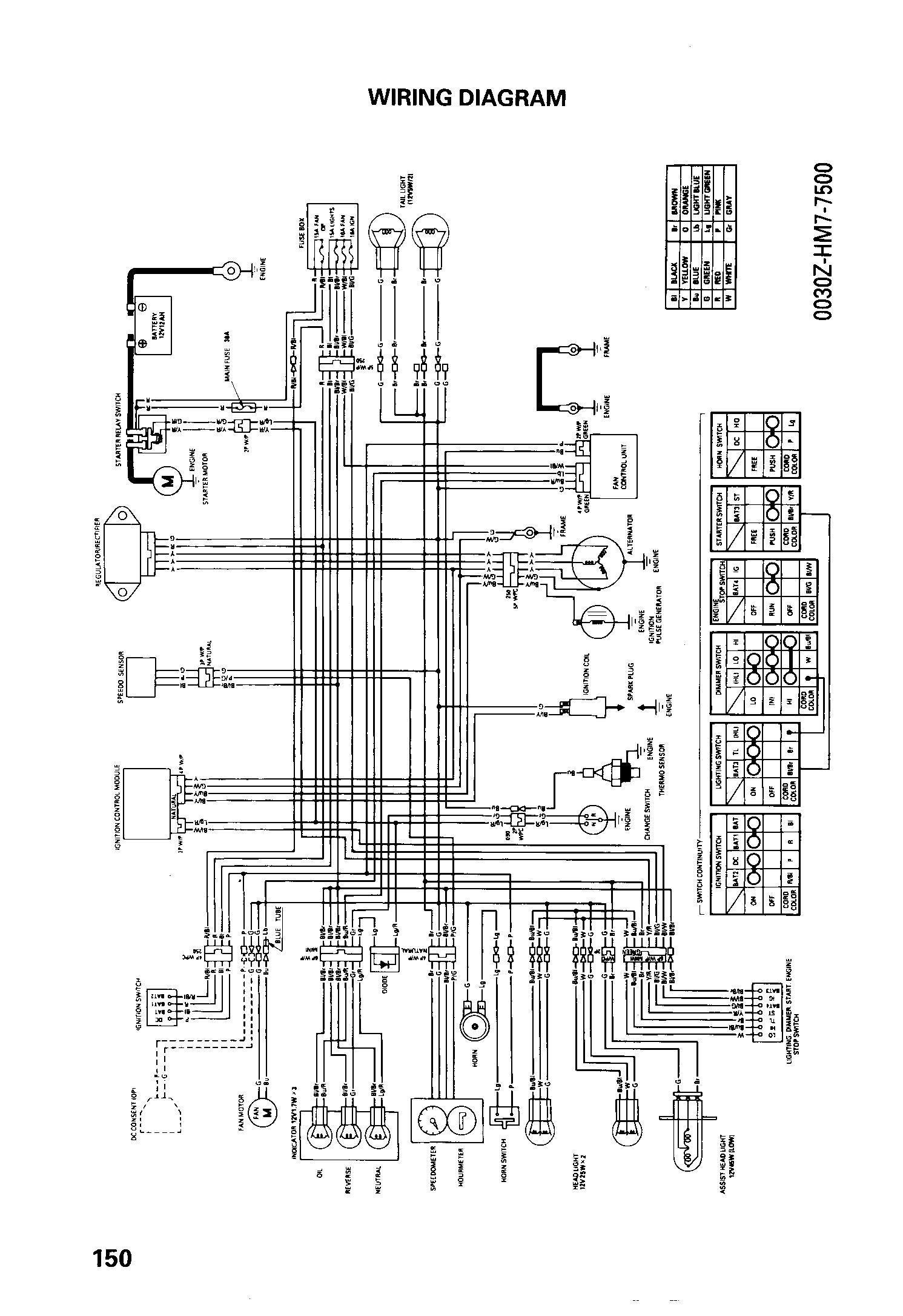 Honda Trx300ex Wiring Diagram