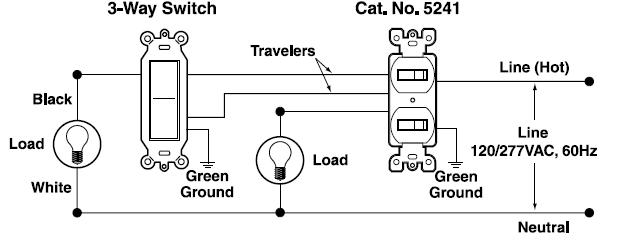 Wiring Diagram Gallery: Leviton 3 Way Toggle Switch Wiring
