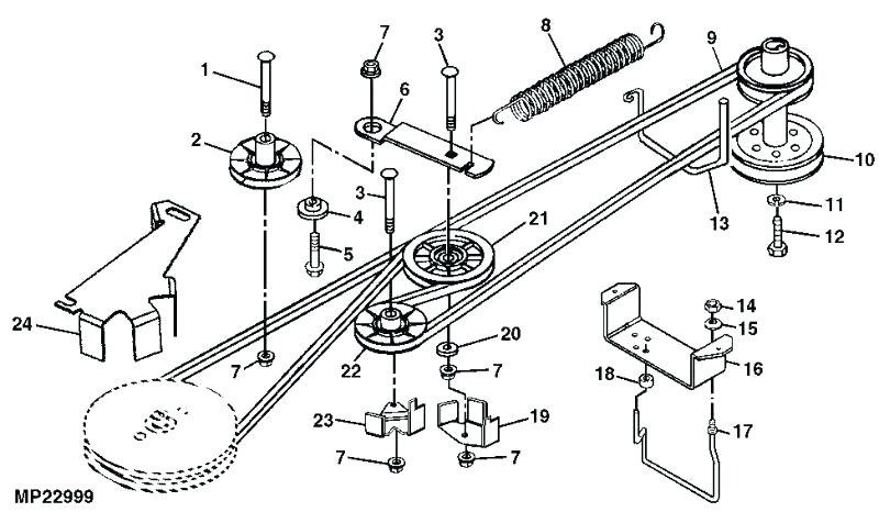 [SB_2234] Belt Deck Diagram Craftsman 42 Mower Free Image