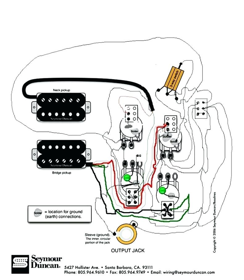[AV_9964] 3 Way Switch With Dual Humbuckers Seymour Duncan