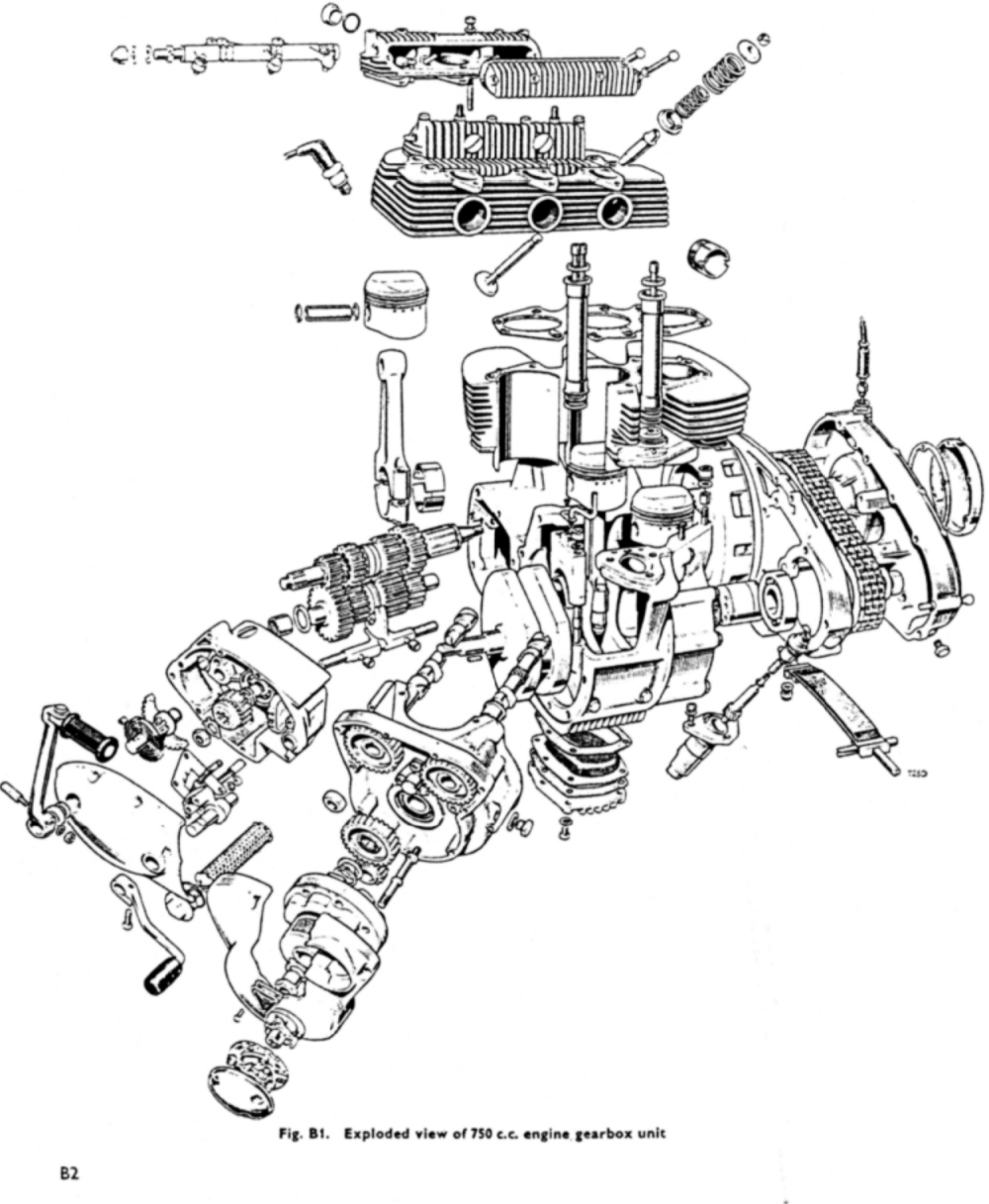 [ZM_9508] Triumph Bonneville Engine Diagram Schematic Wiring