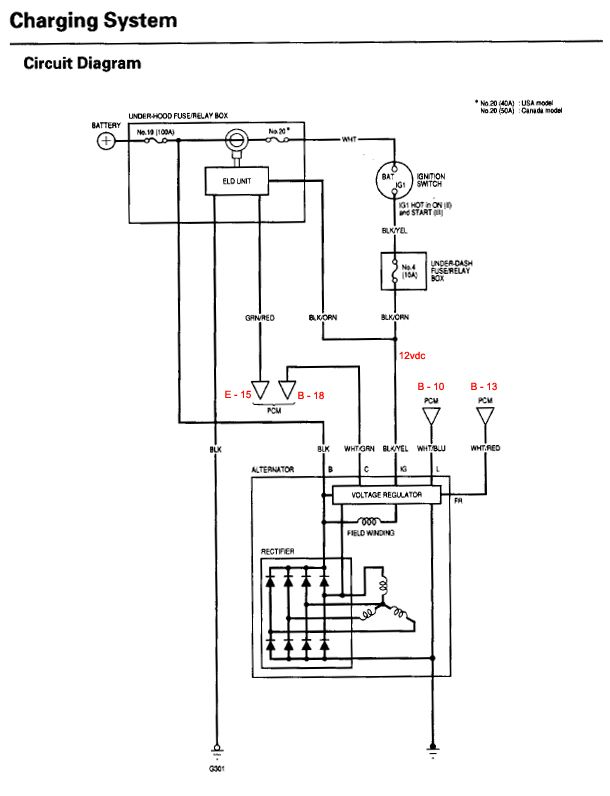 Honda Alternator Wiring Diagram Collection