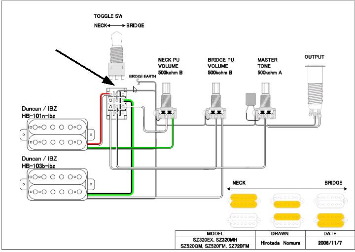 Wiring Diagram Gallery: Ibanez Wiring Diagram 3 Way Switch