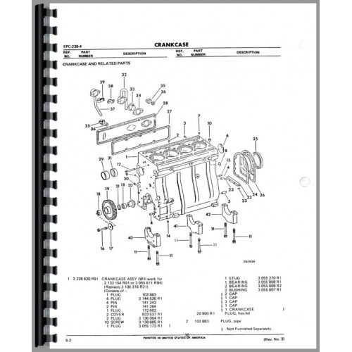 [AV_8205] Cylinder Block Group Diagram And Parts List For