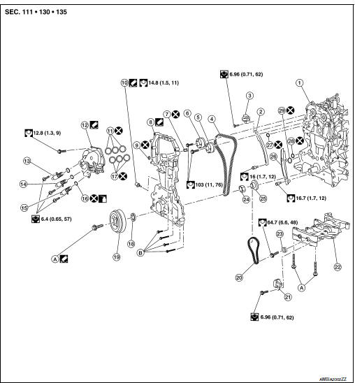 [KX_0468] Engine Timing Chain Diagram Schematic Wiring