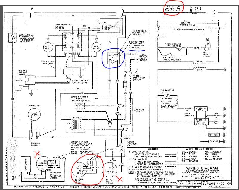 Rheem Furnace Wiring Diagram : Rheem Furnace Wiring