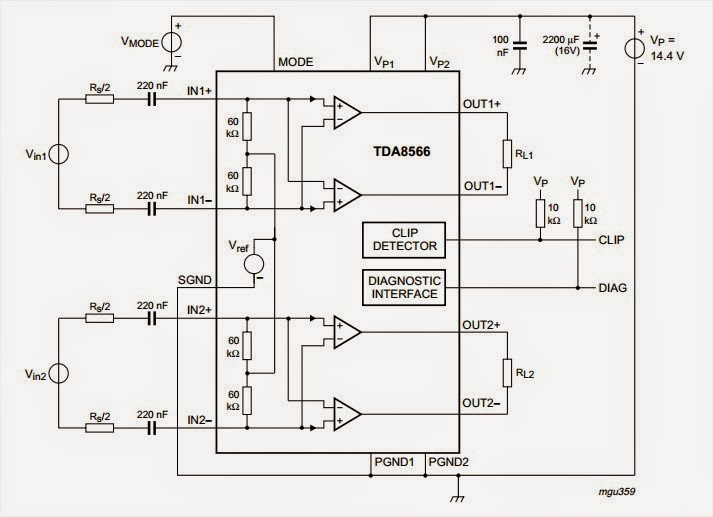 [GL_8487] Car Amplifier Circuit Download Diagram