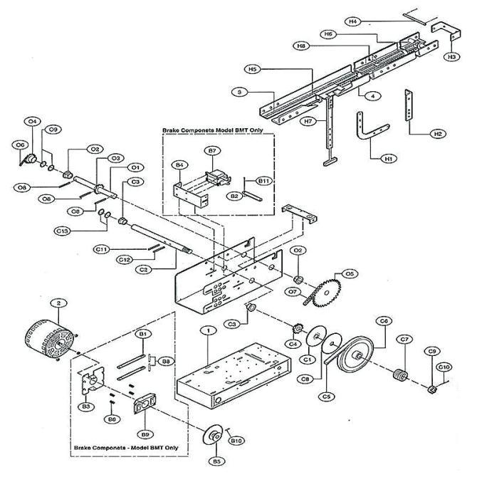 om6110 lift wiring diagram also genie garage door opener