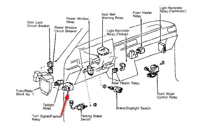 [SO_8867] Toyota Hilux Pickup Power Window Wiring Diagrams