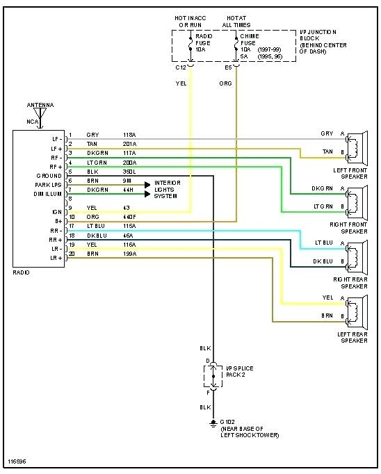95 saturn radio wiring color code  wiring diagram electron