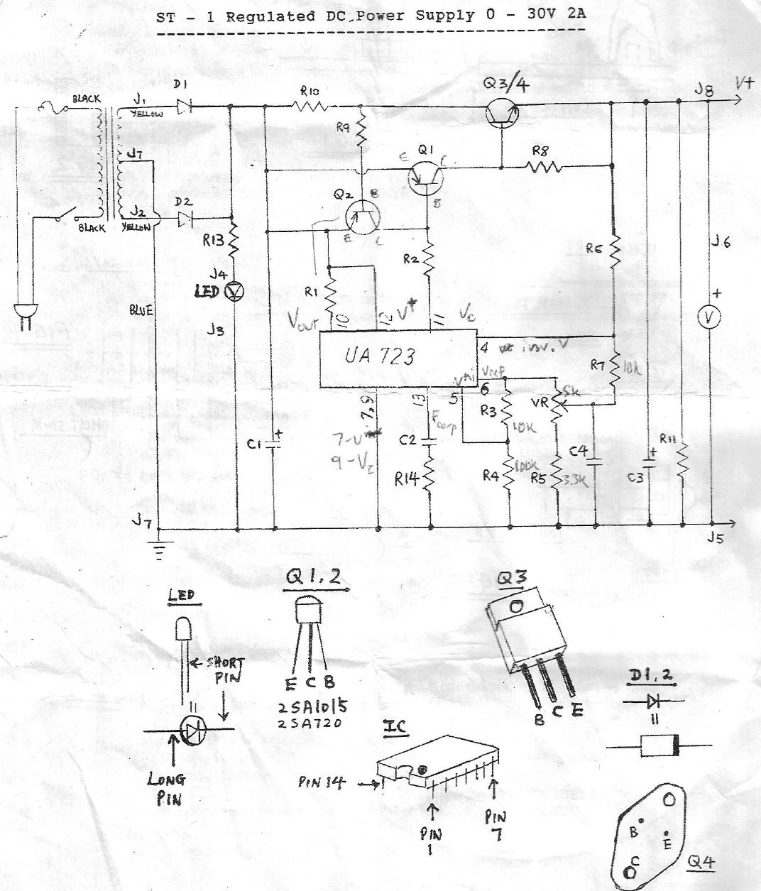 [TW_5824] Lm723 Variable Power Supply Circuit Design