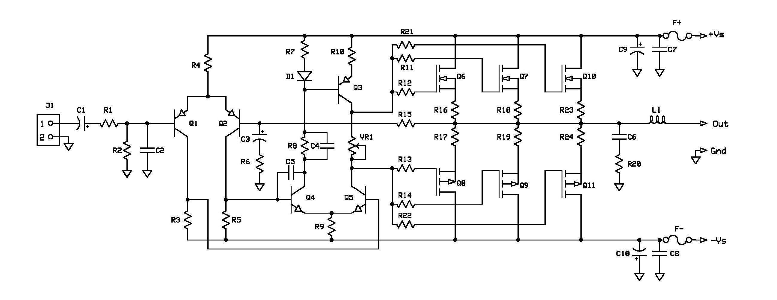 [FE_5490] Mosfet Amplifier Circuit Diagram Schematic Wiring