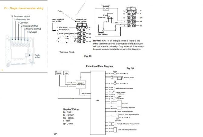 vl6099 wiring a thermostat to a baxi boiler free diagram