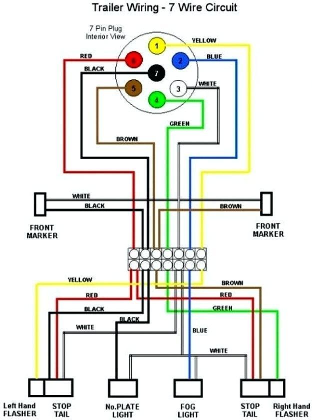 xv0781 trailer plug wiring diagram on 4 way trailer plug