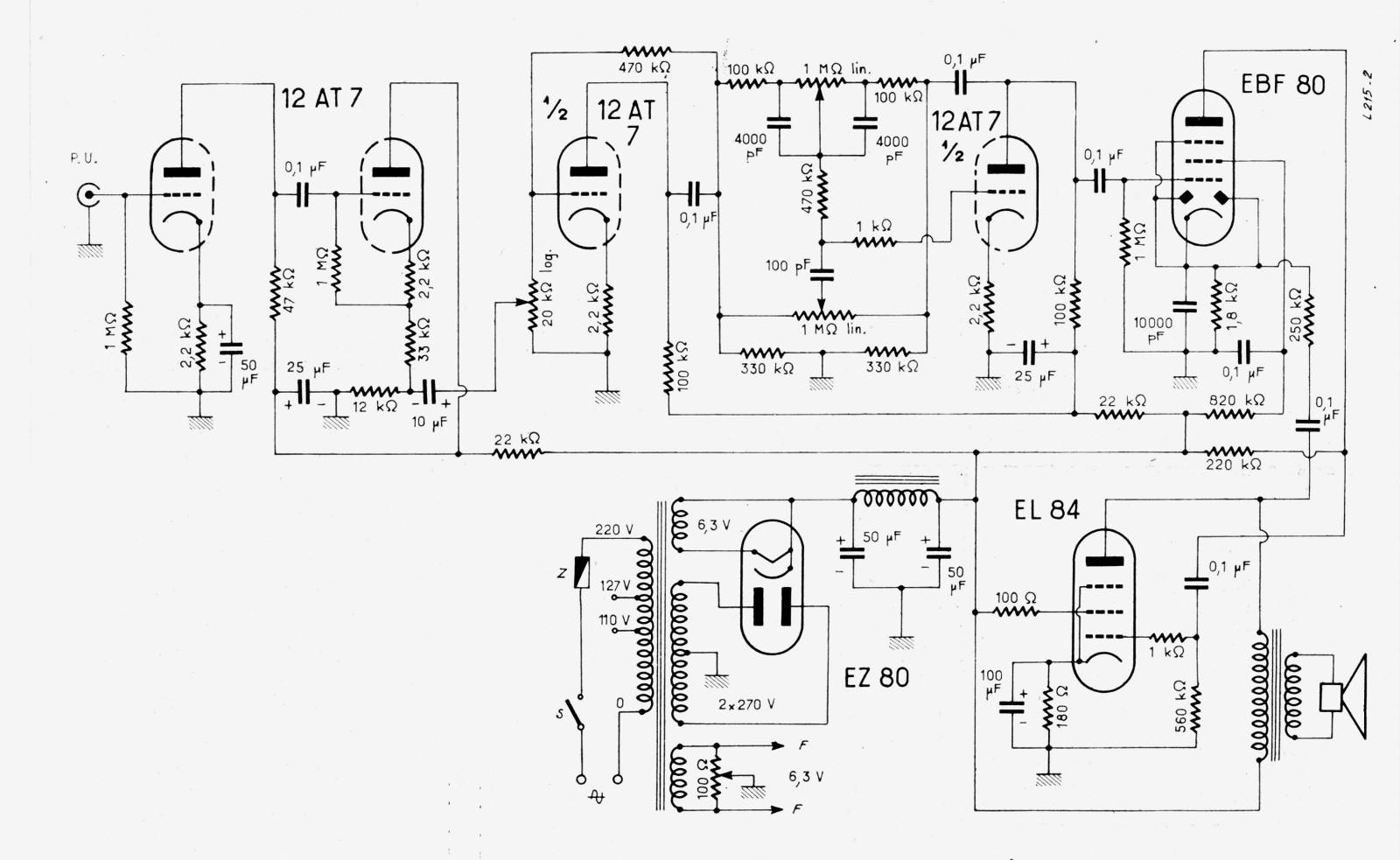 [TT_7810] 35W Tube Power Amplifier With El34 Circuit