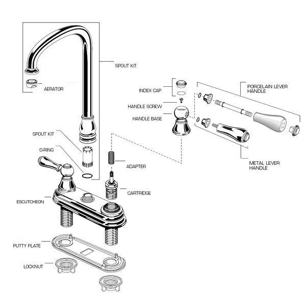 kw 7289 shower faucet parts diagram