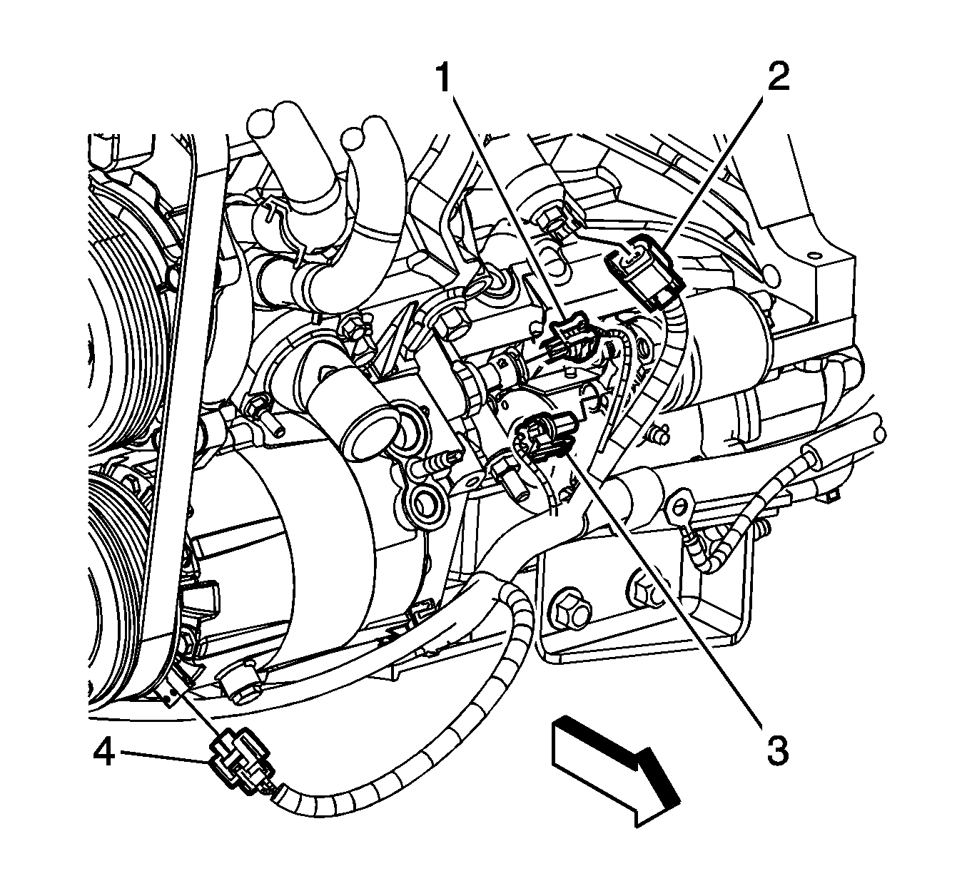 [WY_6093] Chevy Oil Pressure Sending Unit On Oil Sending
