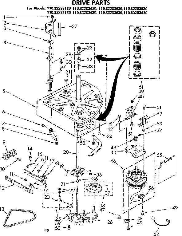 Kenmore 80 Series Washer Parts List / Washing Machine Will