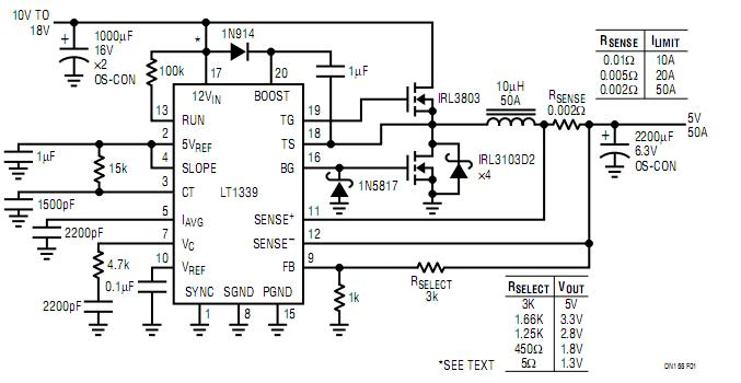 [DF_3994] Buck Converter Delivers Up To 50A