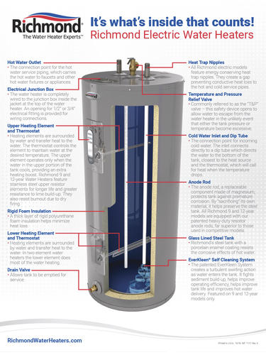 kn6484 richmond hot water heater wiring diagram electric