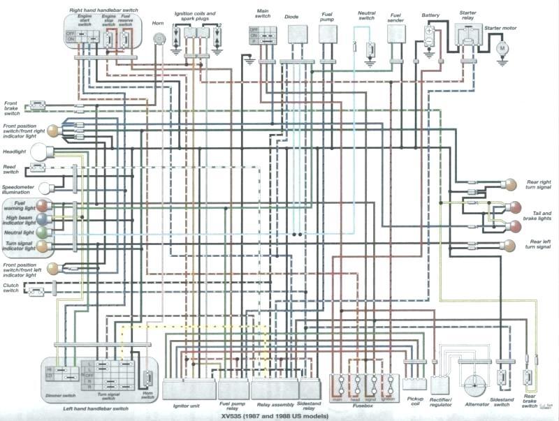 Xv750 Wiring Diagram / Diagram 1983 Yamaha Virago 500
