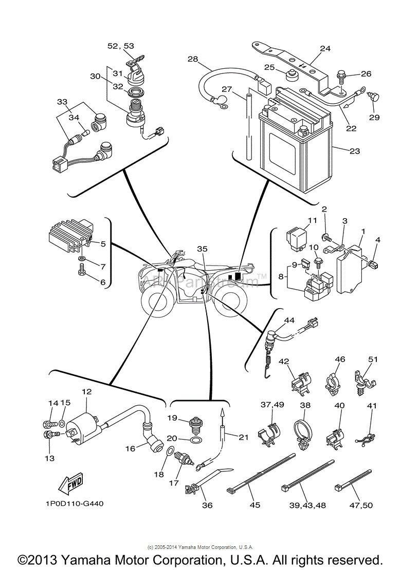 [FS_4203] Yamaha Bear Tracker 250 Wiring Diagram Schematic