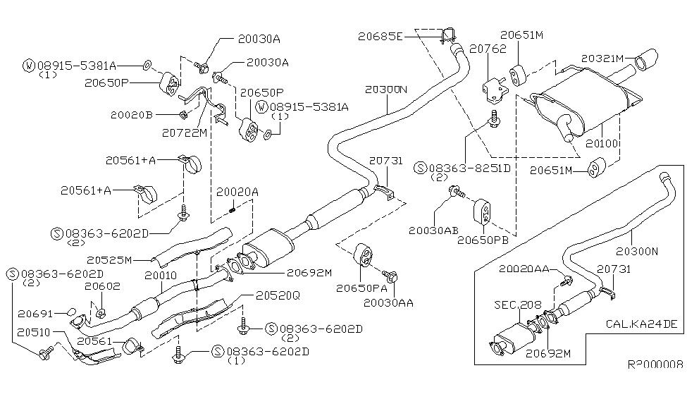 [NK_9435] 2000 Nissan Datsun Sentra Exhaust Diagram