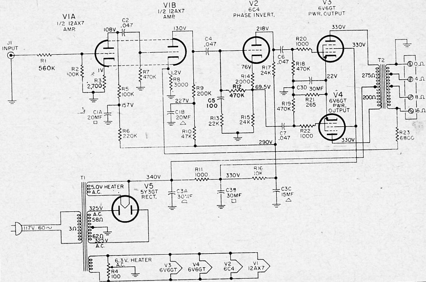 [VT_2891] Together With 6L6 Tube Lifier Schematic On 6L6