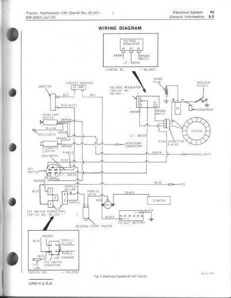 [BS_0828] John Deere 140 H3 Wiring Diagram Wiring Diagram