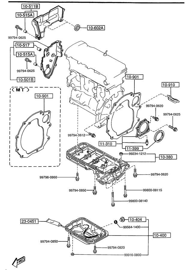 [AS_9200] 2000 Mazda Protege Belt System Download Diagram