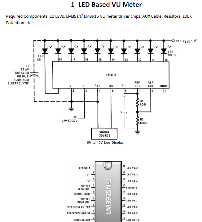[DD_3991] 10 Led Vu Meter Circuit Diagram Using Lm3915 And